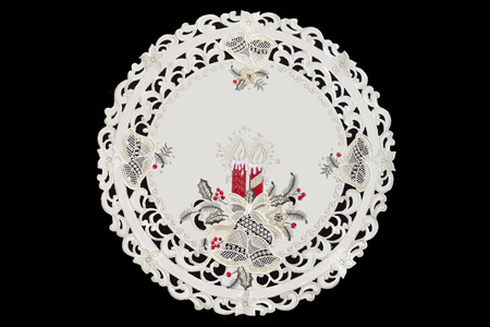 Doily Red Candle